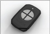 4 Button PentaFob Keyring in Black FOB43304