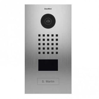 Doorbird IP Video Door Station Brushed Stainless Steel Flush Edition - Needs POE injector