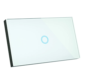 Smart Glass 1 button glass light switch for 1 on/off circuit