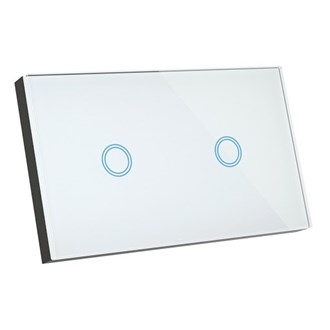 Smart Glass 2 button glass light switch for 2 on/off circuits