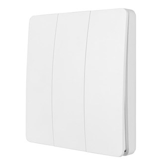 SMART WIFI KINETIC WALL SWITCH 3 GANG - WHITE