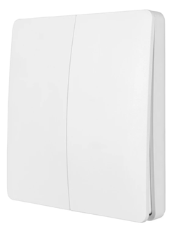 SMART WIFI KINETIC WALL SWITCH 2 GANG - WHITE