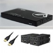 KIT-SMARTVIDEO-1x4 includes 1x4 HDMI Splitter ,4x HDBaseT extender for HDMI & IR,4x1.5 HDMI cable