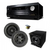 KIT-SURSOUND-L2  inc 5.1 surround sound, that is 3 in-wall 8'' speakers, 2 6'' in-ceilling rear speakers with Integra 7.2 Amplifier, Integra 30.4 rack mount kit,floor standing sub,Digital Audio traslator