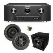 KIT-SURSOUND-L3  includes 5.1 surround sound, that is 3 6'' in-wall speakers, 2 6'' in-ceilling rear speakers with Yamaha 9.2 Amplifier, Integra 30.4 rack mount kit,floor standing sub,Digital Audio traslator